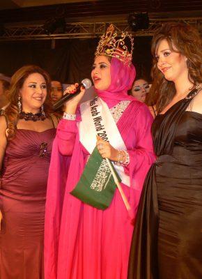 حنان نصر والفنانه حسنه مع ملكة جمال العرب 2009