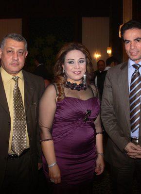 حنان نصر وزوجها الطيارمع احمد المسلماني